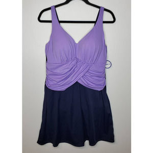 Swimsuits For All Twist Front Shaping Swim Dress